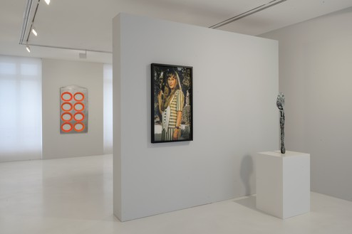 Installation view Artwork, left to right: © Blair Thurman © Cindy Sherman; © Sterling Ruby. Photo: Charles Duprat
