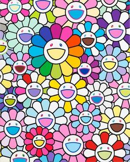 Takashi Murakami, To be titled, 2019 Acrylic and platinum leaf on canvas mounted on aluminum frame, 16 ½ × 13 ¼ inches (41.7 × 33.5 cm)© 2019 Takashi Murakami/Kaikai Kiki Co., Ltd. All rights reserved
