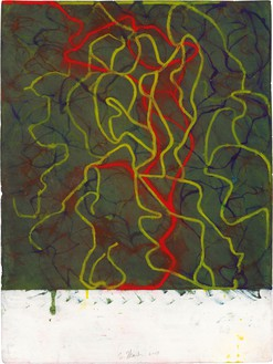 Brice Marden, Nevis Night Drawing, 2018 Kremer inks on Arches paper, 30 ¼ × 22 ½ inches (76.8 × 57.2 cm)© Brice Marden. Photo: Rob McKeever