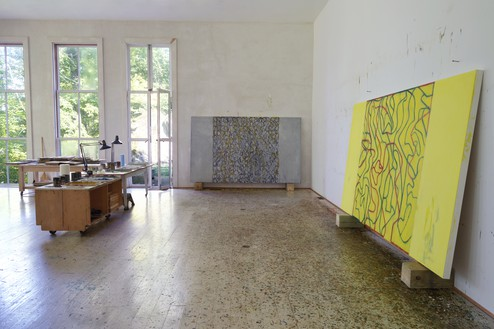 Brice Marden's studio, Tivoli, New York, 2019 Artwork © 2019 Brice Marden/Artists Rights Society (ARS), New York. Photo: Rob McKeever