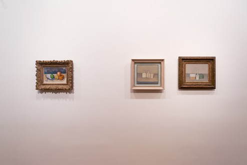 Installation view Artwork, left to right: Paul Cézanne, Giorgio Morandi © DACS 2019