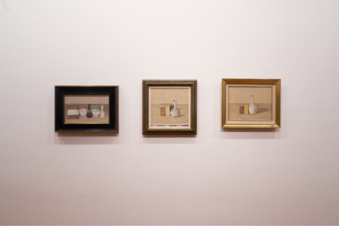 Installation view Artwork, left to right: Giorgio Morandi © DACS 2019