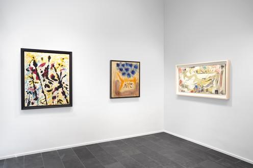 Installation view Artwork, left to right: © 2019 The Pollock-Krasner Foundation/Artists Rights Society (ARS), New York; © 2019 Helen Frankenthaler Foundation, Inc./Artists Rights Society (ARS), New York; © 2019 The Willem de Kooning Foundation/Artists Rights Society (ARS), New York