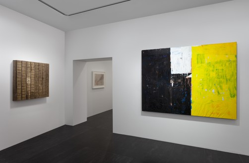 Installation view Artwork, left to right: © Theaster Gates, © Cy Twombly Foundation, © Joe Bradley