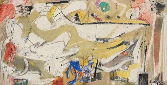 Willem de Kooning, Untitled, 1948 Oil on masonite, 24 × 48 inches (61 × 121.9 cm)© 2019 The Willem de Kooning Foundation/Artists Rights Society (ARS), New York