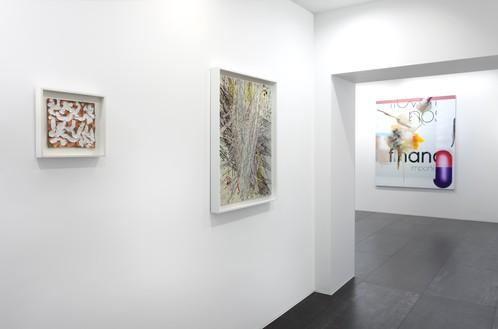 Installation view Artwork, left to right: © 2019 Robert Ryman/Artists Rights Society (ARS), New York; © Mark Grotjahn; © Albert Oehlen
