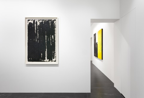 Installation view Artwork, left to right: © 2019 Richard Serra/Artists Rights Society (ARS), New York; © Joe Bradley