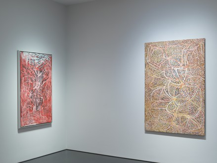 Installation view Artwork © Emily Kame Kngwarreye/Copyright Agency. Licensed by Artists Rights Society (ARS), New York, 2019. Photo: Rob McKeever