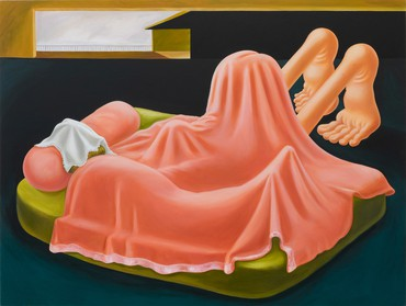 Louise Bonnet, Interior with Pink Blanket, 2019