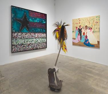 Installation view Artwork, left to right: © Vaughn Spann, © Natalie Ball, © Genieve Figgis. Photo: Rob McKeever