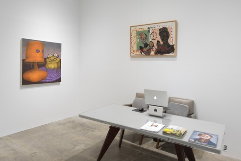 Installation view Artwork, left to right: © Ginny Casey, © Rene Ricard. Photo: Rob McKeever