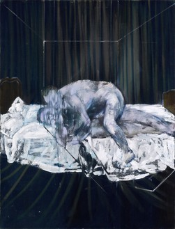 Francis Bacon, Two Figures, 1953 Oil on canvas, 60 ⅛ × 45 ⅞ inches (152.5 × 116.5 cm)© The Estate of Francis Bacon. All rights reserved, DACS/Artimage 2019. Photo: Prudence Cuming Associates Ltd