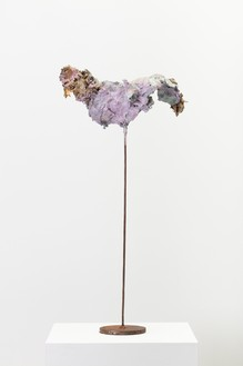 Franz West, Nippes, 2005 Papier-mâché, acrylic, and steel, 29 ⅛ × 14 ⅝ × 6 ¾ inches (74 × 37 × 17 cm)© Archiv Franz West and © Estate Franz West