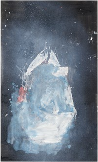 Georg Baselitz, Mark Rothko, 2018 Oil on canvas, 64 ⅞ × 39 ⅜ inches (165 × 100 cm)© Georg Baselitz. Photo: Jochen Littkemann