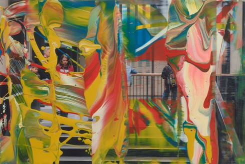 Gerhard Richter, MV. 98, 2011 Lacquer on color photograph, 4 × 5 ⅞ inches (10 × 15 cm)© Gerhard Richter 2019 (04042019)