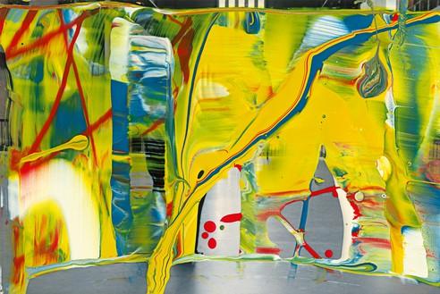 Gerhard Richter, MV. 92, 2011 Lacquer on color photograph, 4 × 5 ⅞ inches (10 × 15 cm)© Gerhard Richter 2019 (15032019)