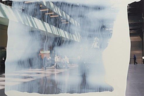 Gerhard Richter, MV. 45, 2011 Lacquer on color photograph, 4 × 5 ⅞ inches (10 × 15 cm)© Gerhard Richter 2019 (10042019). Photo: Lucy Dawkins