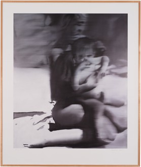 Gerhard Richter, Frau mit Kind (Woman with Child), 2005 Color offset print on cardboard, in frame, 62 ⅞ × 53 inches (159.5 × 134.5 cm), edition of 32© Gerhard Richter 2019 (07102019). Photo: Rob McKeever