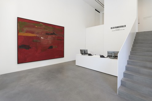 Installation view with Helen Frankenthaler, Tunis II (1978) Artwork © 2019 Helen Frankenthaler Foundation, Inc./Artists Rights Society (ARS), New York. Photo: Matteo D'Eletto, M3 Studio