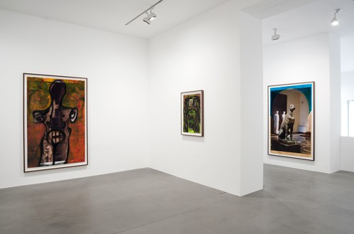 Installation view Artwork © Huma Bhabha