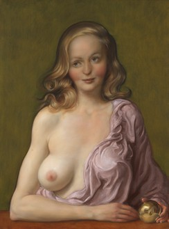 John Currin, Avarice, 2019 Oil on canvas, 40 ⅛ × 30 ⅛ inches (101.9 × 76.4 cm)© John Currin. Photo: Rob McKeever