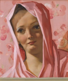 John Currin, Desdemona, 2019 Oil on canvas, 21 ½ × 18 inches (54.6 × 45.7 cm)© John Currin. Photo: Rob McKeever