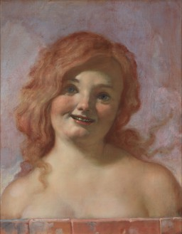 John Currin, Squeaky, 2019 Oil on canvas, 23 × 18 ⅛ inches (58.4 × 46 cm)© John Currin. Photo: Rob McKeever