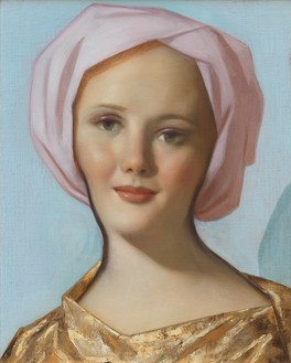 John Currin, Magus, 2019 Oil on canvas, 22 × 18 inches (55.9 × 45.7 cm)© John Currin. Photo: Rob McKeever
