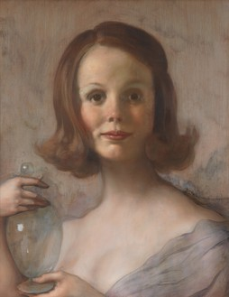 John Currin, Shelley, 2019 Oil on canvas, 23 × 18 ⅛ inches (58.4 × 46 cm)© John Currin. Photo: Rob McKeever