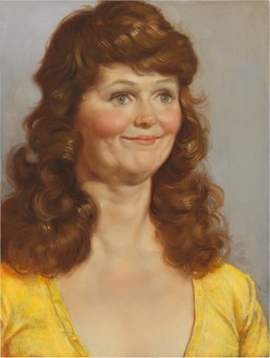 John Currin, Crystal's Friend, 2011 Oil on canvas, 24 × 18 inches (61 × 45.7 cm)© John Currin