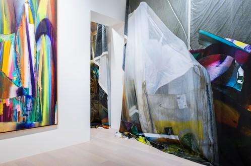 Installation view Artwork © Katharina Grosse and VG Bild-Kunst Bonn, 2019. Photo: Andreas Zimmermann