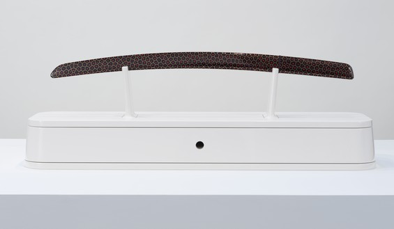 Marc Newson, Aikuchi, 2017 Urushi, wood, brass, steel, and ray skin, installation dimensions variable, edition of 6© Marc Newson