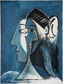 Pablo Picasso, Tête de femme, 1963 Oil on canvas, 28 ¾ × 21 ⅝ inches (73 × 55 cm)© 2019 Estate of Pablo Picasso/Artists Rights Society (ARS), New York