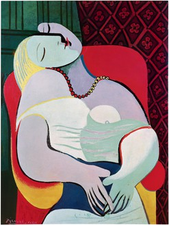 Pablo Picasso, Le rêve (Marie-Thérèse), 1932 Oil on canvas, 51 ¼ × 38 ⅝ inches (130 × 98 cm)© 2019 Estate of Pablo Picasso/Artists Rights Society (ARS), New York