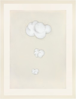 Robert Therrien, No title (white smoke signal), 2019 Ink, enamel, and graphite, 66 ¼ × 48 inches (168.3 × 121.9 cm)© 2019 Robert Therrien/Artists Rights Society (ARS), New York. Photo: Josh White