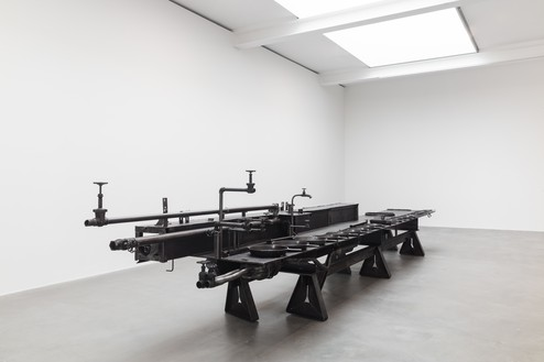 Installation view with Sterling Ruby, TABLE (DOUBLE LAST SUPPER) (2019) Artwork © Sterling Ruby. Photo: Lucy Dawkins