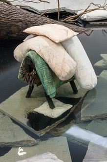 Tatiana Trouvé, The Shaman, 2018 (detail) Patinated bronze, marble, granite, concrete, steel, sand, and water, overall dimensions variable© Tatiana Trouvé. Photo: Fredrik Nilsen Studio