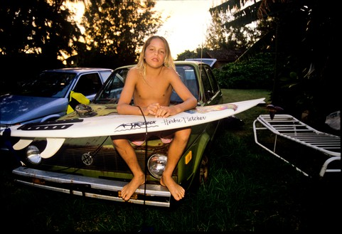 Nathan, North Shore, Hawaii, 1988 Photo: Tom Servais, courtesy Fletcher Family Archive
