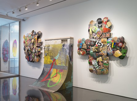 Installation view Artwork, left and right: © Herbie Fletcher, center: © Greyson Fletcher. Photo: Rob McKeever