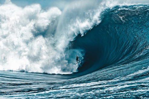 Nathan, Teahupo'o, French Polynesia, 2011 Photo: Brian Bielmann, courtesy Fletcher Family Archive