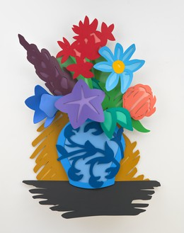 Tom Wesselmann, Mixed Bouquet (Filled In), 1993 Oil on cutout aluminum, 74 × 52 × 7 ½ inches (188 × 132.1 × 19.1 cm)© The Estate of Tom Wesselmann/Licensed by ARS/VAGA, New York. Photo: Jeffrey Sturges