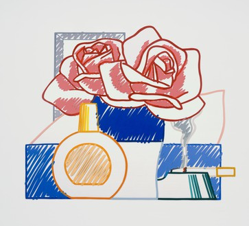 Tom Wesselmann, Scribble Version of Still Life #58 (Opaque), 1984–91 Enamel on cutout aluminum, 58 × 69 ½ inches (147.3 × 176.5 cm)© The Estate of Tom Wesselmann/Licensed by ARS/VAGA, New York. Photo: Jeffrey Sturges