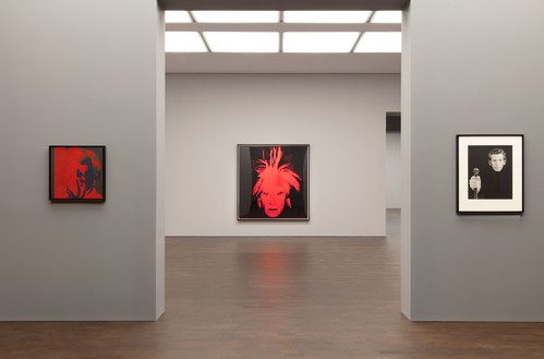 Installation view Artwork, left and center: © 2019 The Andy Warhol Foundation for the Visual Arts, Inc./Licensed by DACS, London; right: © Robert Mapplethorpe Foundation. Used by permission. Photo: Lucy Dawkins