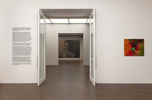 Installation view Artwork, left to right: © Rudolf Stingel, © Howard Hodgkin. Photo: Lucy Dawkins