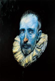 Glenn Brown, Sex, 2003 Oil on panel, 49 ⅝ × 33 ½ inches (126 × 85.1 cm)© Glenn Brown. Photo: Robert McKeever