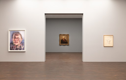 Installation view Artwork, left: © Jenny Saville; right: © Succession Picasso/DACS, London 2019. Photo: Lucy Dawkins