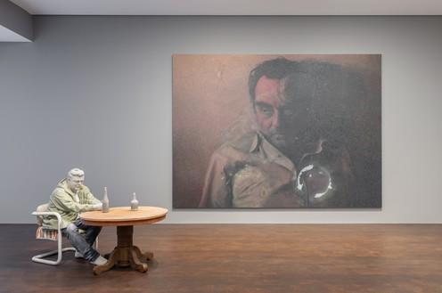 Installation view Artwork, left to right: © Urs Fischer, © Rudolf Stingel. Photo: Lucy Dawkins