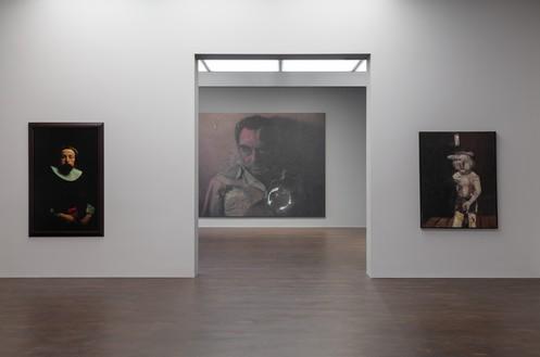 Installation view Artwork, left to right: © Cindy Sherman, © Rudolf Stingel, © Georg Baselitz. Photo: Lucy Dawkins