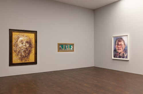 Installation view Artwork, left to right: © Glenn Brown; © The Estate of Francis Bacon. All rights reserved. DACS 2019; © Jenny Saville. Photo: Lucy Dawkins