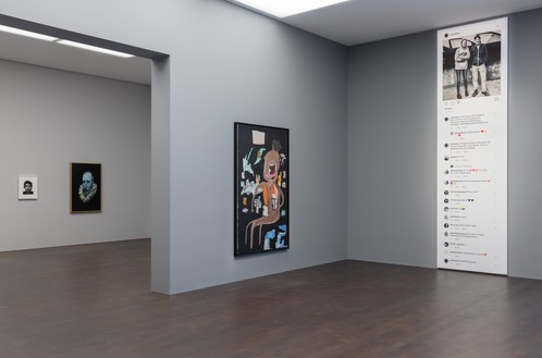 Installation view Artwork, left to right: © Giuseppe Penone; © Glenn Brown; © The Estate of Jean-Michel Basquiat/ADAGP, Paris and DACS, London 2019; © Richard Prince. Photo: Lucy Dawkins